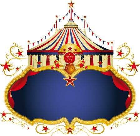 cabaret stage: Un marco de circo con una carpa y una copia espacio grande para su mensaje.