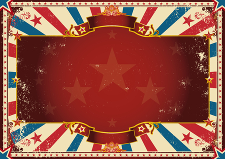 star background: a vintage poster with red sunbeams for your advertising. Perfect size for a screen.