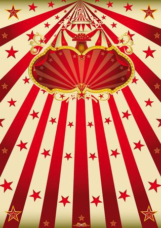 circo: Un cartel de carnaval de estilo retro con un signo para usted Vectores