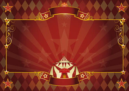 revue: A Horizontal rhombus circus background for your show. Perfect size for a screen.