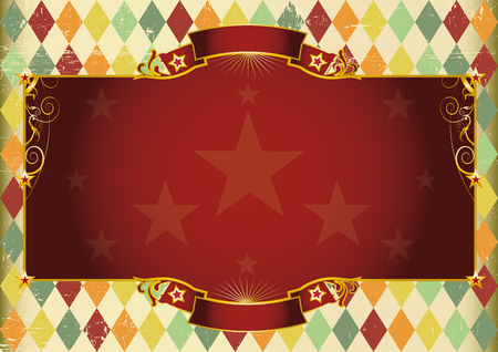 vintage banner: A Horizontal  vintage background with rhombuses for your show. Illustration