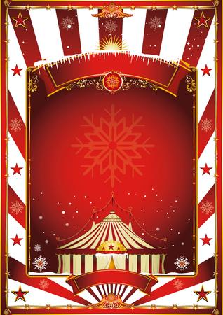 circo: Feliz navidad y próspero año nuevo. Un cartel de circo en el tema de la Navidad para su ... Disfruta