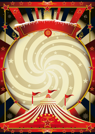 A vintage circus background for christmas
