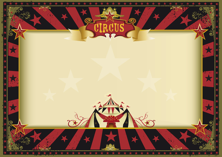 cabaret stage: a circus red and black vintage poster for your advertising. Perfect size for a screen.
