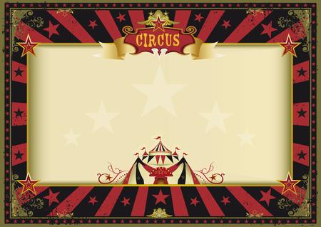 Ein Zirkus rot und schwarz Vintage Poster für Ihre Werbung. Perfekte Größe für einen Bildschirm. Standard-Bild - 50223331