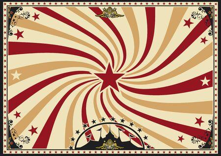 un cartel de la vendimia del circo con un vórtice para su publicidad. Tamaño perfecto para una pantalla.