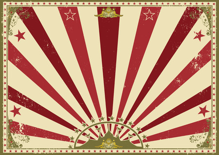 big top tent: a circus vintage poster for your advertising. Perfect size for a screen. Illustration