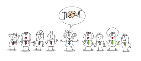 Two groups of people are not agree but Penelope is the best mediator. She finds a conciliation between the two parts