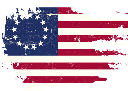 state: A flag of Old Union with a grunge texture Illustration