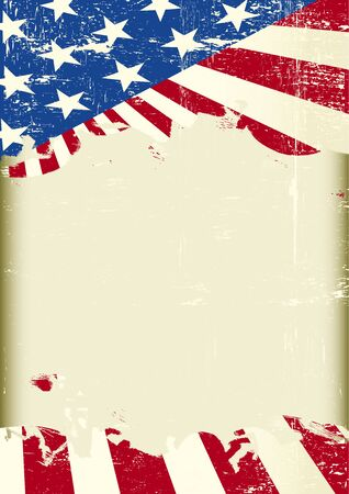 historic world event: A grunge american poster . with a frame for your message