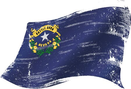 carson city: A grunge Nevada flag for you in the wind