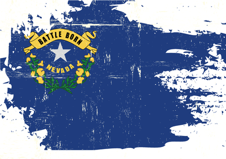 homeland: A flag of Nevada with a grunge texture
