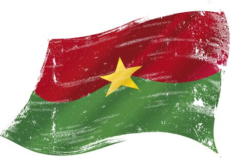 commonwealth: A grunge flag of  Burkina faso in the wind for you