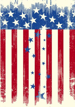 The Stars are falling of the american flag. is it the decline of the USA... Illustration