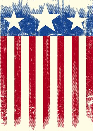 us grunge flag: A american grunge background