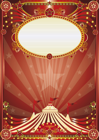 school carnival: A beautiful circus poster for your entertainment