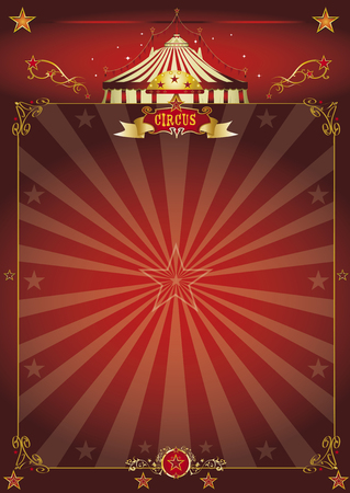 theater background: A beautiful circus poster with sunbeams for your entertainment Illustration