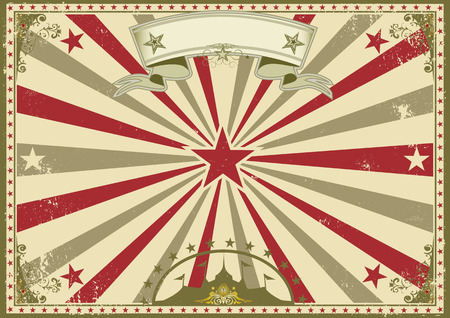 grunge banner: a circus vintage poster for your advertising. Perfect size for a screen. Illustration
