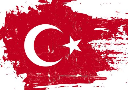 turkish flag: A Turkish flag with a grunge texture Illustration