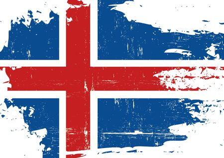 icelandic flag: An Icelandic flag with a grunge texture Illustration