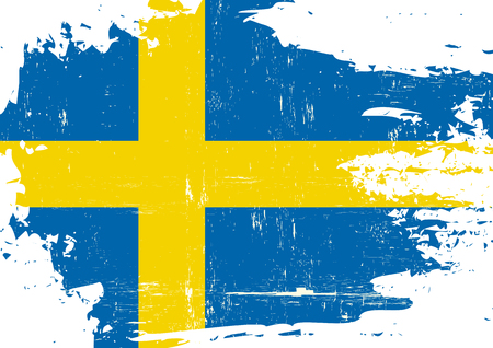 A swedish flag with a grunge texture