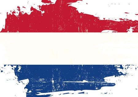 dutch culture: A flag of Netherlands with a grunge texture