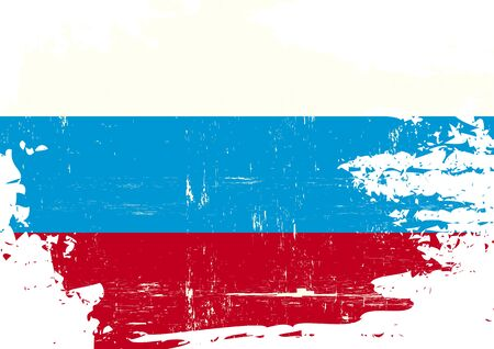 russian flag: A russian flag with a grunge texture