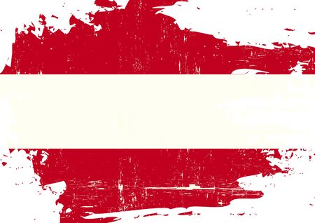 grained: An austrian flag with a grunge texture