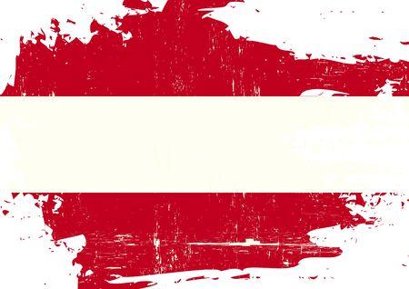 austrian flag: An austrian flag with a grunge texture