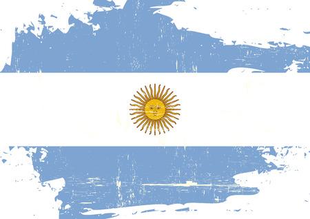 bandera argentina: Una bandera argentina con una textura grunge Vectores