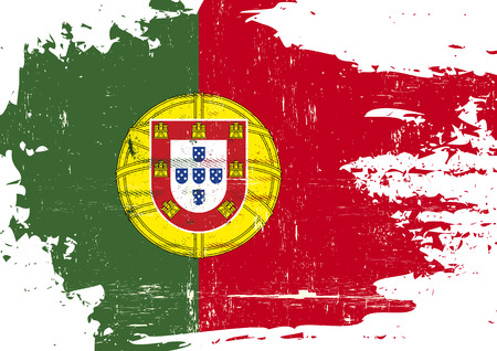 A portuguese flag with a grunge texture