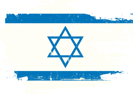 israeli: A israeli flag with a grunge texture Illustration