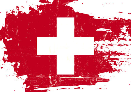 swiss culture: A swiss flag with a grunge texture Illustration