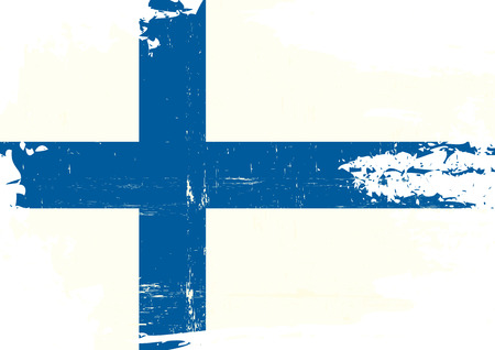 homeland: A finnish flag with a grunge texture Illustration