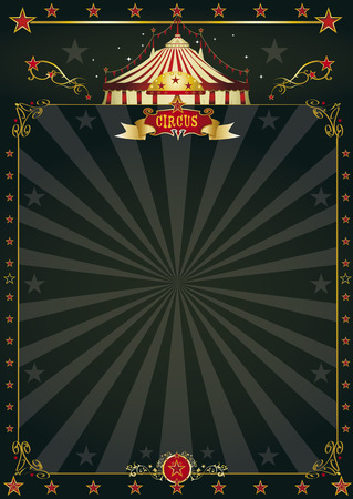 carnival ride: A black circus poster with sunbeams for your entertainment