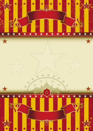 cabaret stage: A circus poster with a texture for your entertainment