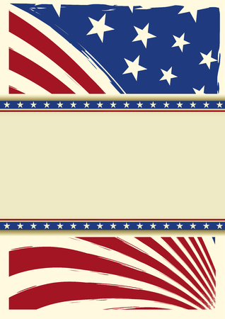 homeland: American grunge flag for you with a frame for your message