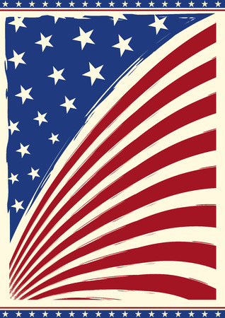 American grunge flag on a background for you Vettoriali