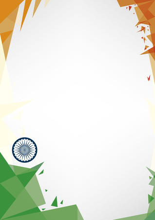 patriotic border: background origami of India.A design background (Origami style) for a  poster Illustration