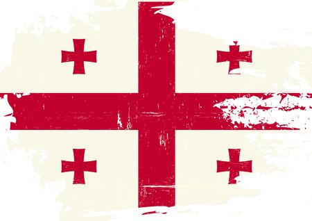 georgian: Georgian flag with a grunge texture Illustration