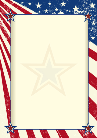 commemoration: An american flag with a large frame for your message