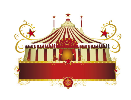 A circus sign isolated on white background for your xmas title