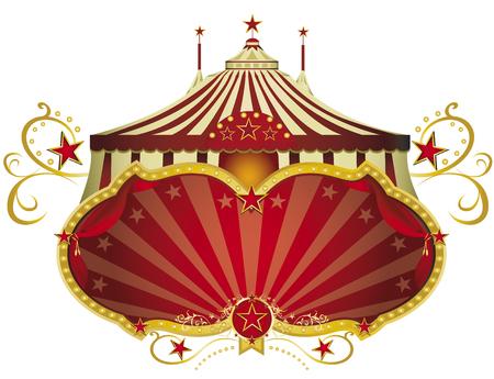 A circus sign isolated on white background for your show