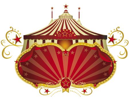 Un signe de cirque isolé sur fond blanc pour votre spectacle