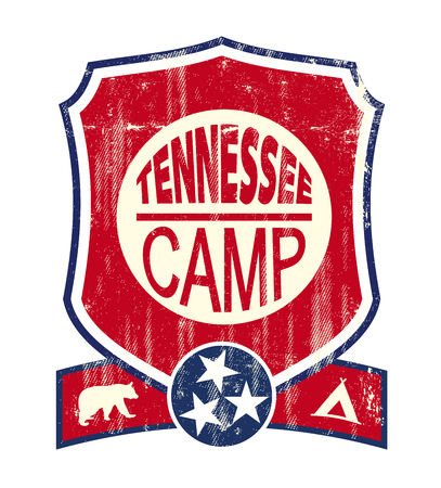 A vintage label of Tennessee for you Illustration