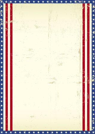 A grunge american poster