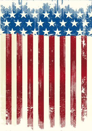 scratched: A grunge american poster