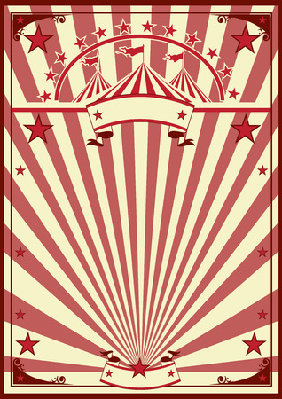 a circus vintage poster for your advertising.