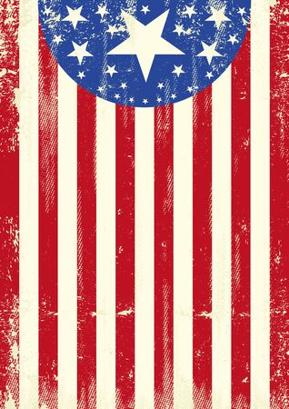 A grunge american poster for your  Illustration
