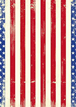 A grunge american poster design Illustration